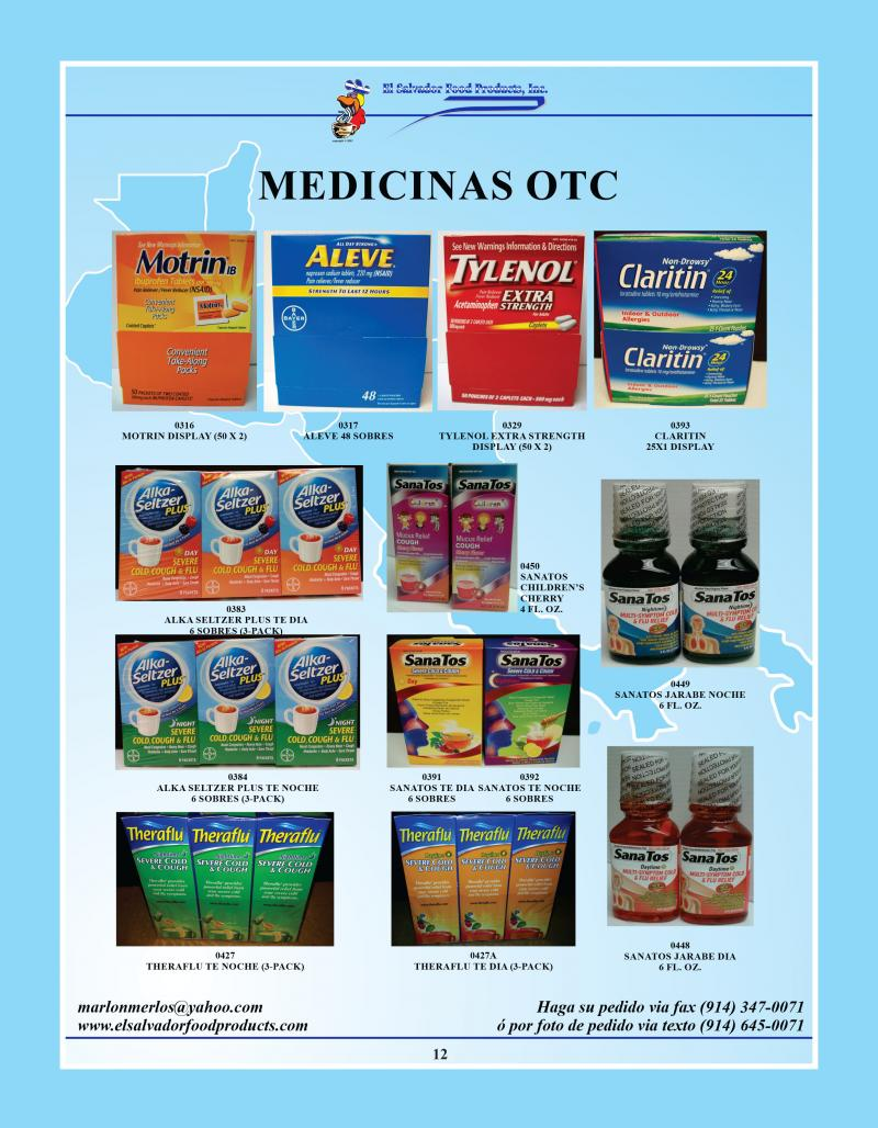 El salvador food products inc medicinas otc si tiene for Productos para singles